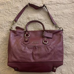 Coach Purple Purse Like New Condition! OBO